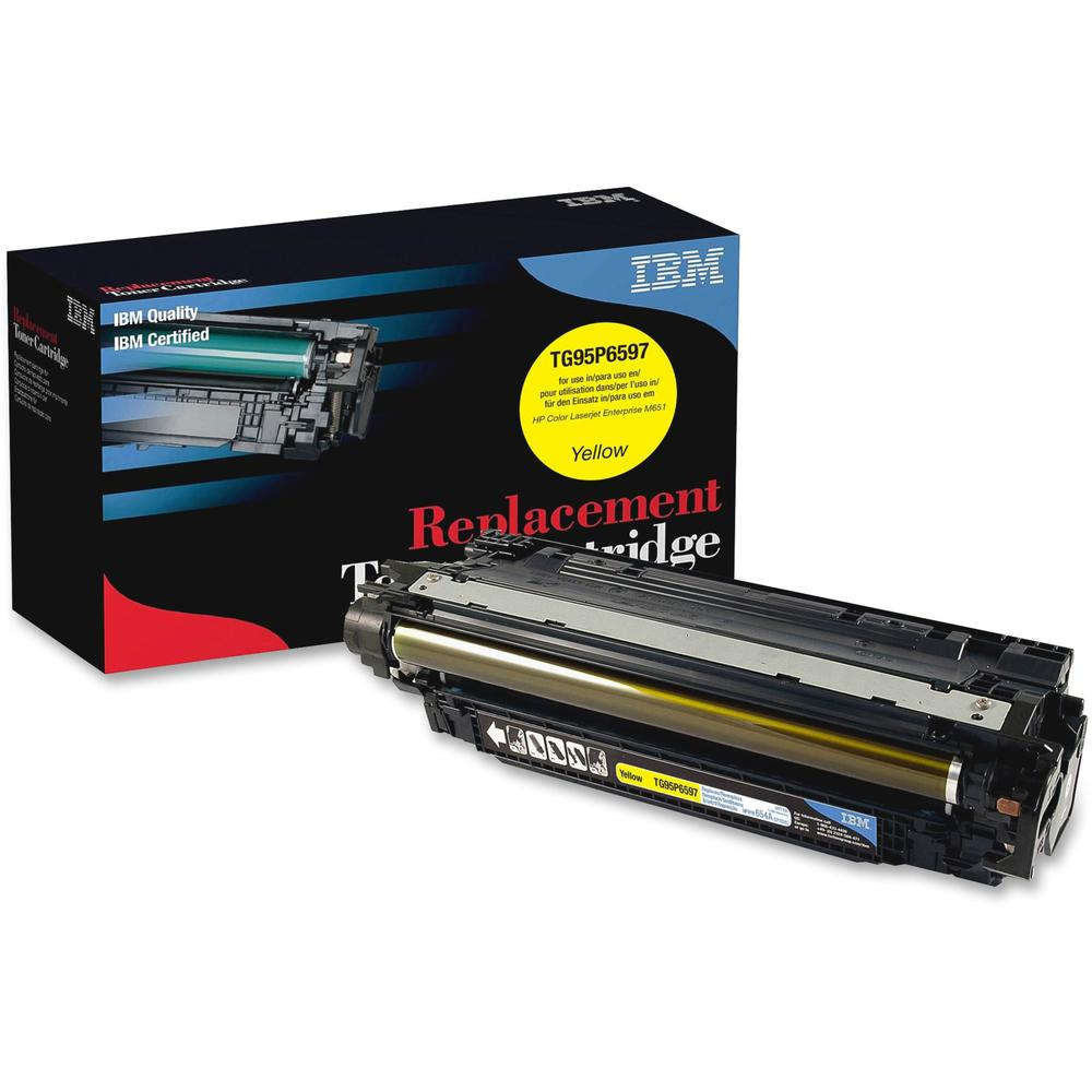 IBM Remanufactured Toner Cartridge - Alternative for HP 654A (CF332A) - Laser - 15000 Pages - Yellow - 1 Each. Picture 1