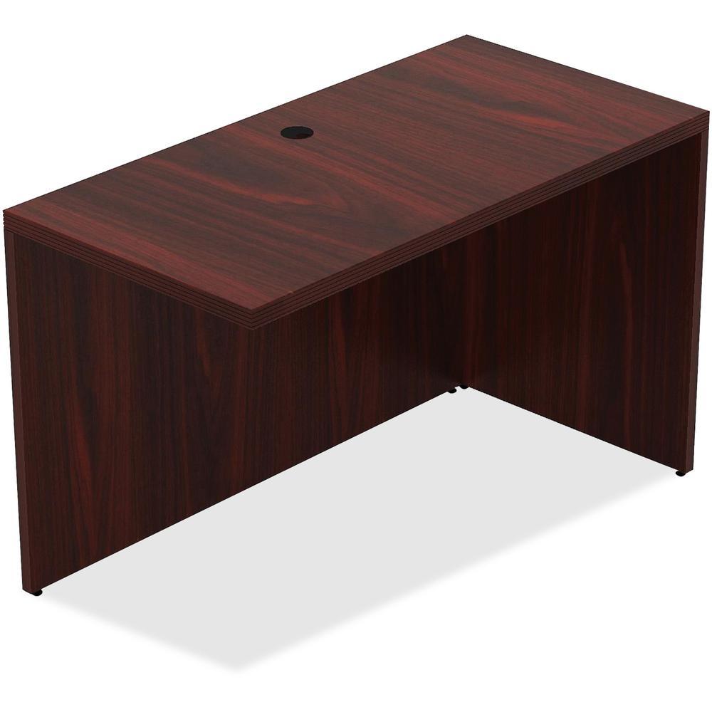 Lorell Cau Series Gany Laminate Desking 47 3 X 23 6 30 Desk Top Reeded Edge Material