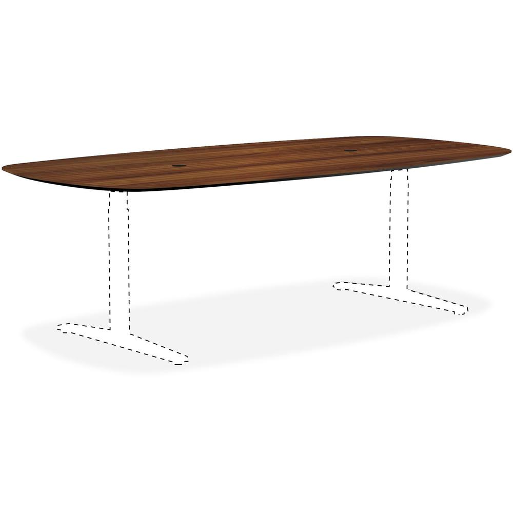 Lorell Knife Edge Walnut Rectangular Conference Tabletop