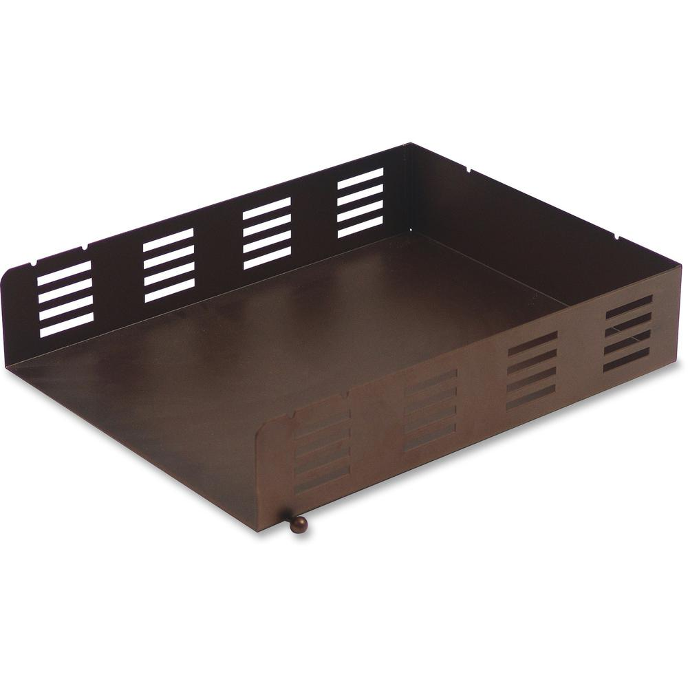 Lorell Stamped Metal Front Loading Letter Tray 6 Tier S
