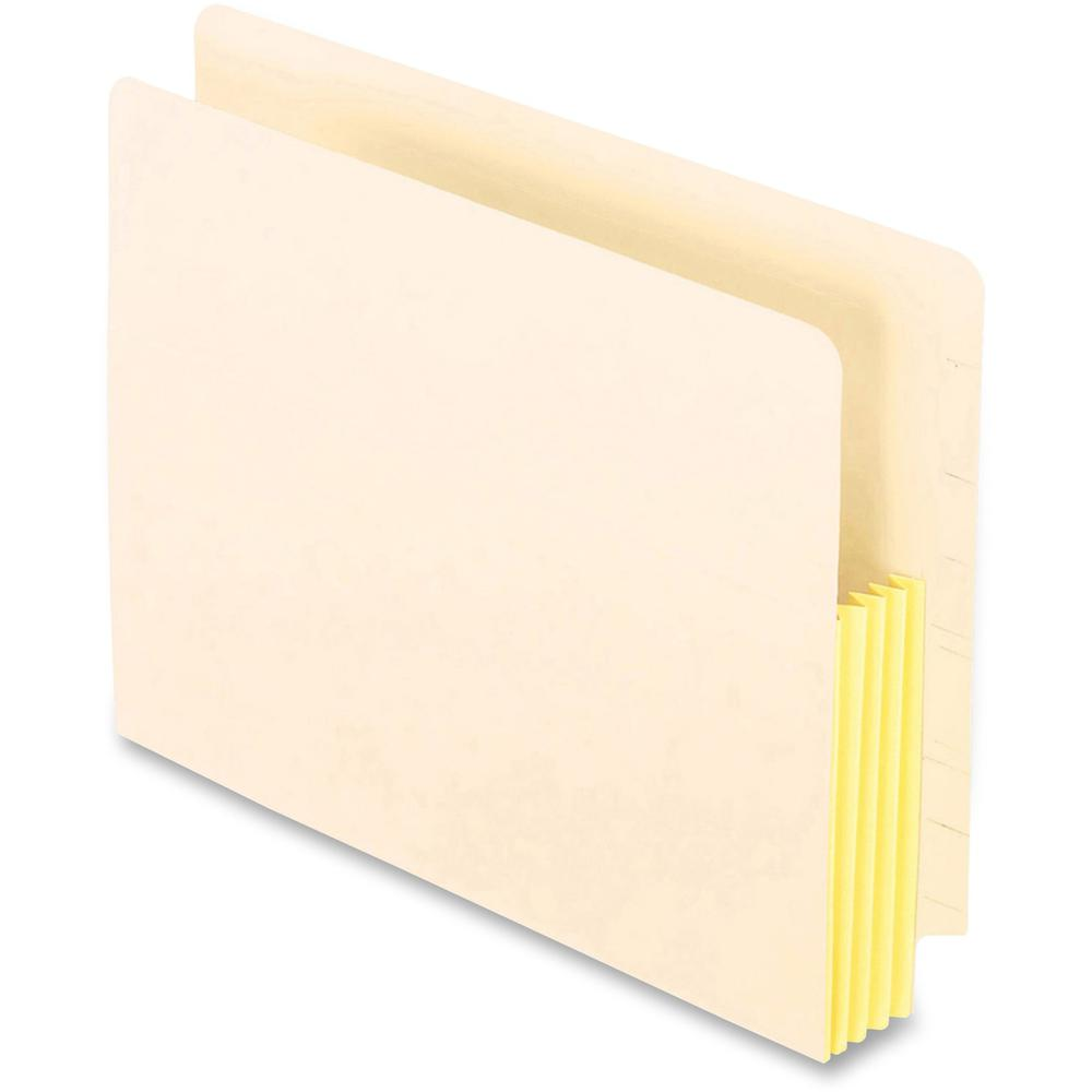 """Pendaflex Straight Tab Cut Letter Recycled File Pocket - 8 1/2"""" x 11"""" - 1 3/4"""" Expansion - End Tab Location - Manila - Manila - 10% - 25 / Box. Picture 1"""