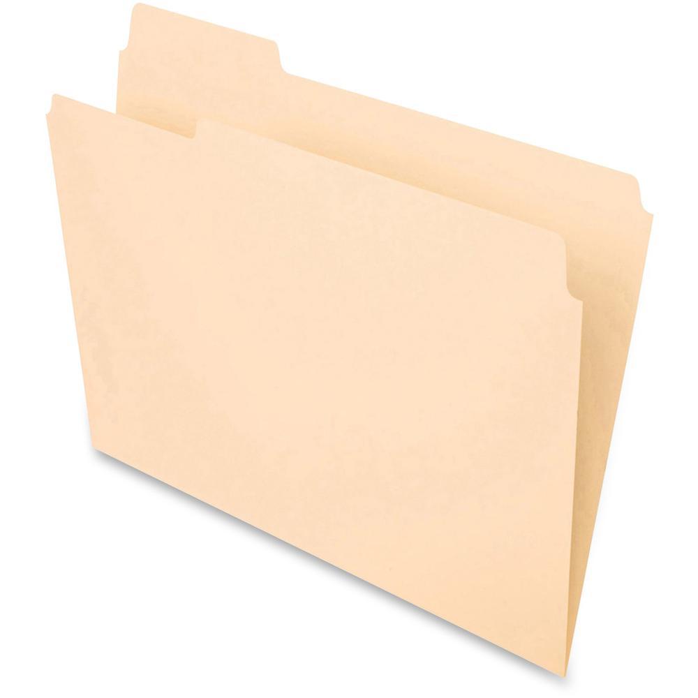 Pendaflex 1 3 cut top tab manila file folders letter 8 for Manila file folders letter 3 tab