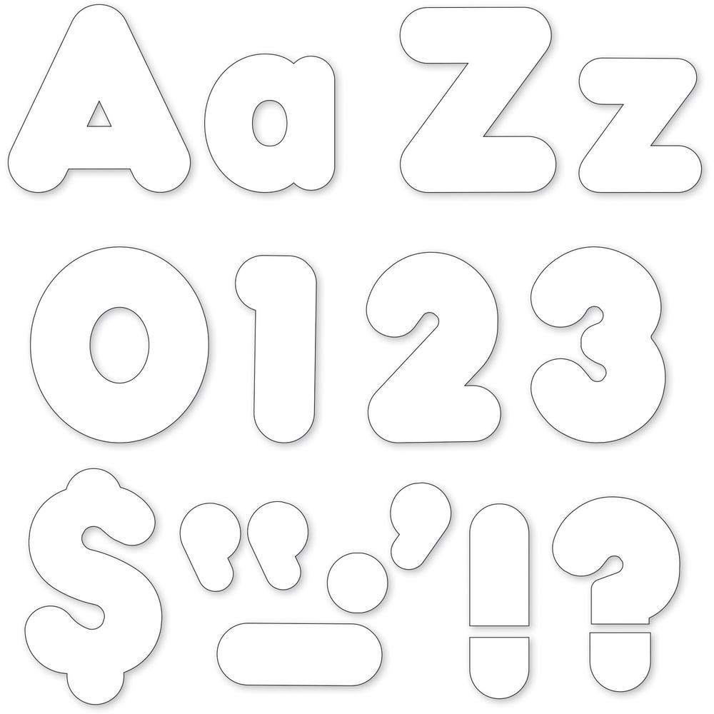 Trend White 4 Casual Ready Letters Combo Pack Learning Theme
