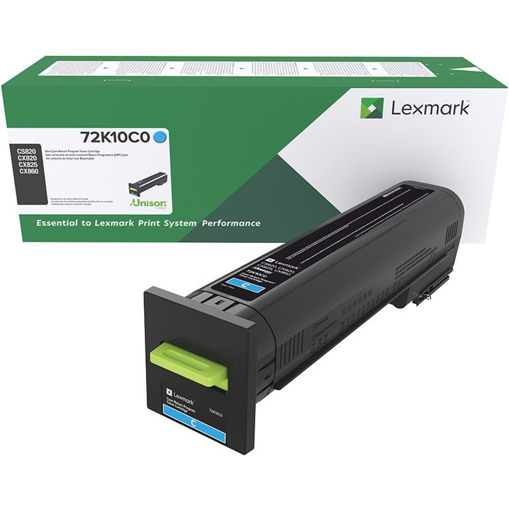 Lexmark Unison Original Toner Cartridge - Laser - Standard Yield - 8000 Pages - Cyan - 1 Each. Picture 1