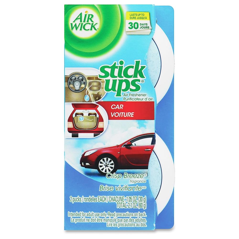 Airwick Stick Ups Car Air Freshener - Stick - 1.05 oz - Crisp Breeze - 30 Day - 24 / Carton ...