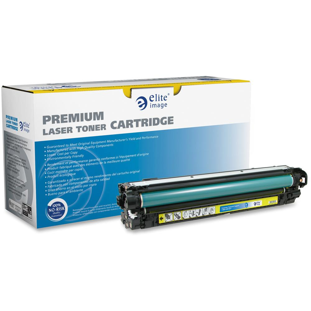 Elite Image Remanufactured Toner Cartridge - Alternative for HP 651A - Laser - Yellow - 1 Each. Picture 1