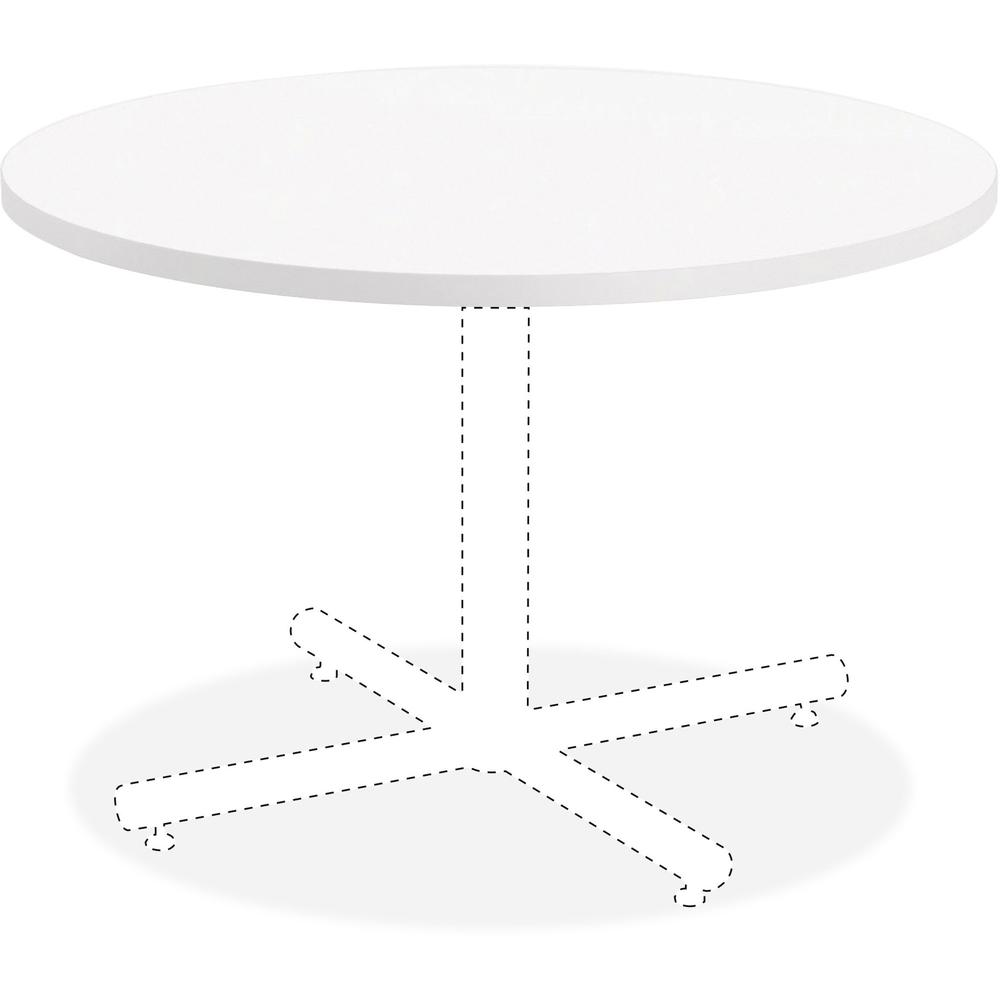 Lorell Hospitality White Laminate Round Tabletop Top 1 25 Table Thickness X 36