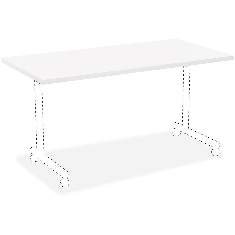 White Laminate Rectangular Invent Tabletop Rectangle Top 24