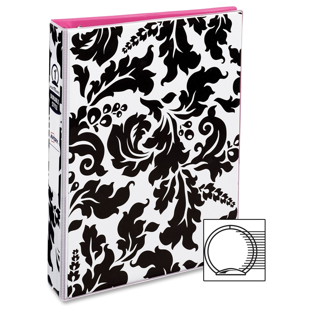 """Avery® 5-1/2"""" X 8-1/2"""" Mini Durable Style Binders With"""