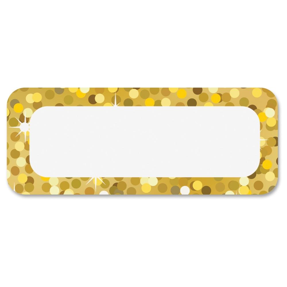 Ashley Gold Sparkle Magnetic Nameplate 30 Rectangle