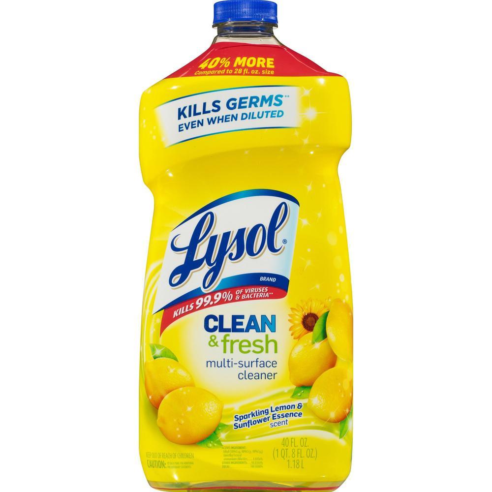 Lysol Clean Fresh Lemon Cleaner 0 31 Gal 40 Fl Oz
