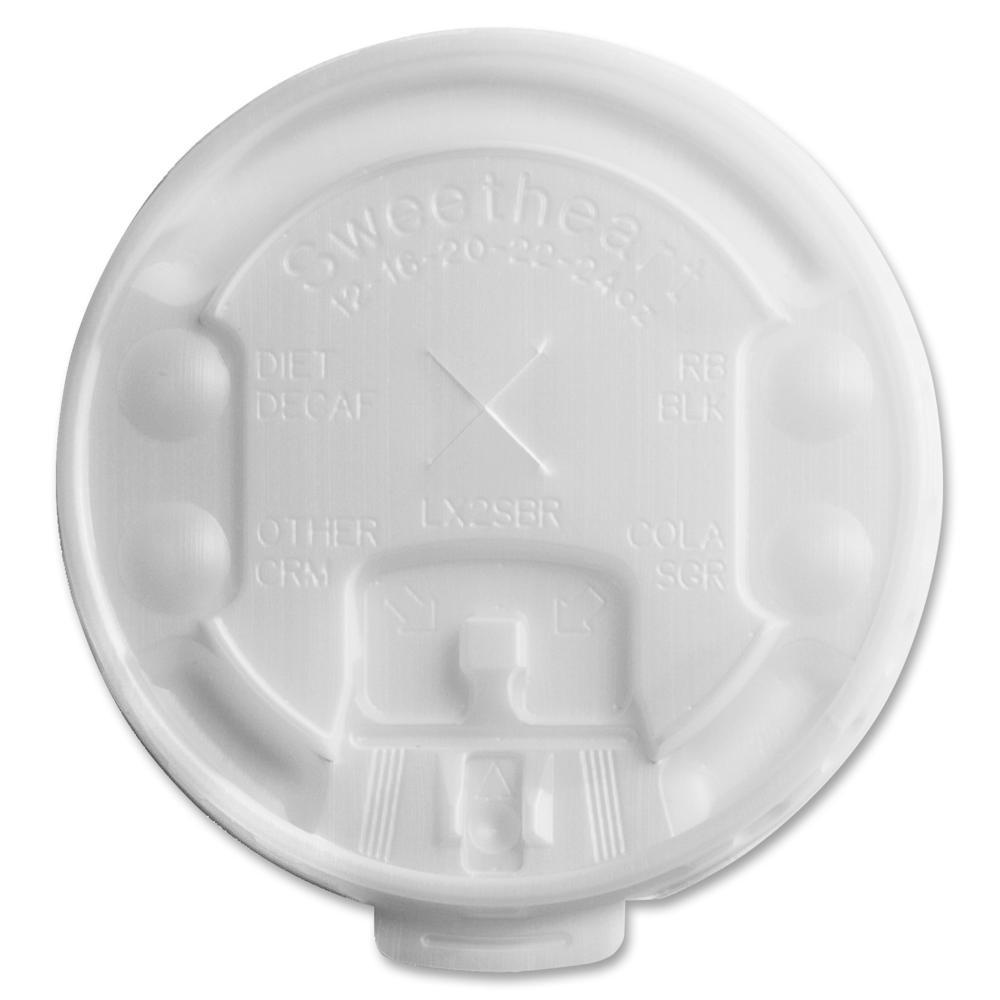 Solo Cup Plastic Lift/Lock Tab Hot Cup Lids - Plastic - 2000 / Carton - Transparent. Picture 1