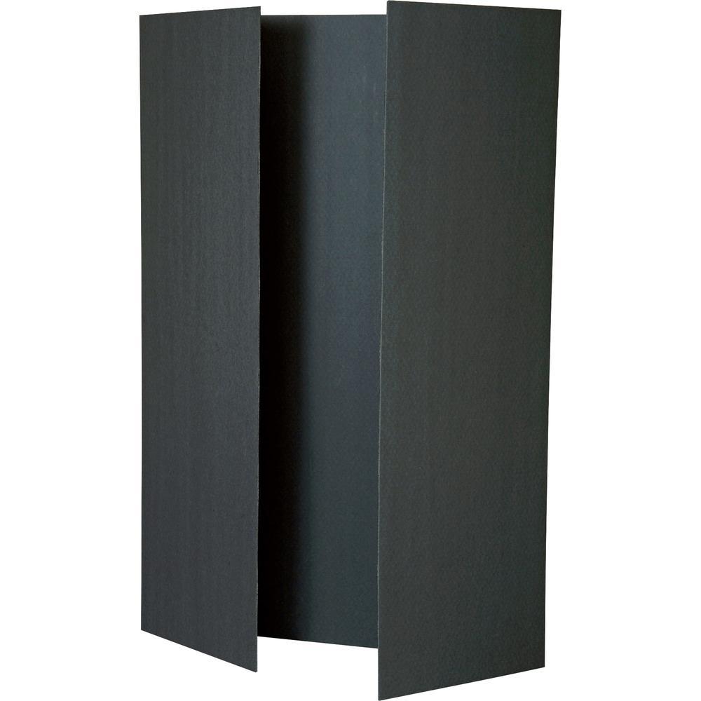 Pacon foam presentation board 48 w x 36 h tri fold foam 12 boards carton black for Fenetre 36 x 48