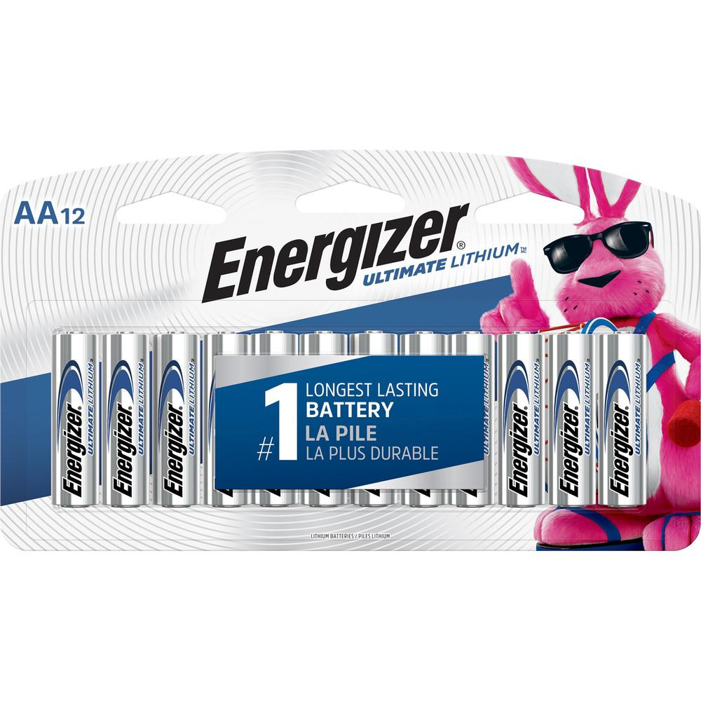 energizer ultimate lithium aa batteries aa lithium li 12 pack. Black Bedroom Furniture Sets. Home Design Ideas