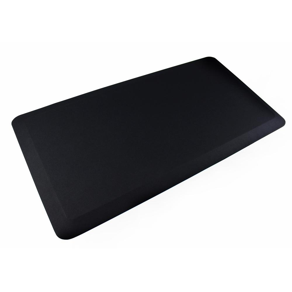 "AFS-TEX Unique System 3000 Anti-Fatigue Mat - Workstation, Stand-up Desk, Reception, Counter - 39"" Length x 20"" Width x 0.80"" Thickness - Rectangle - Polyurethane, Polyester - Midnight Black. Picture 1"