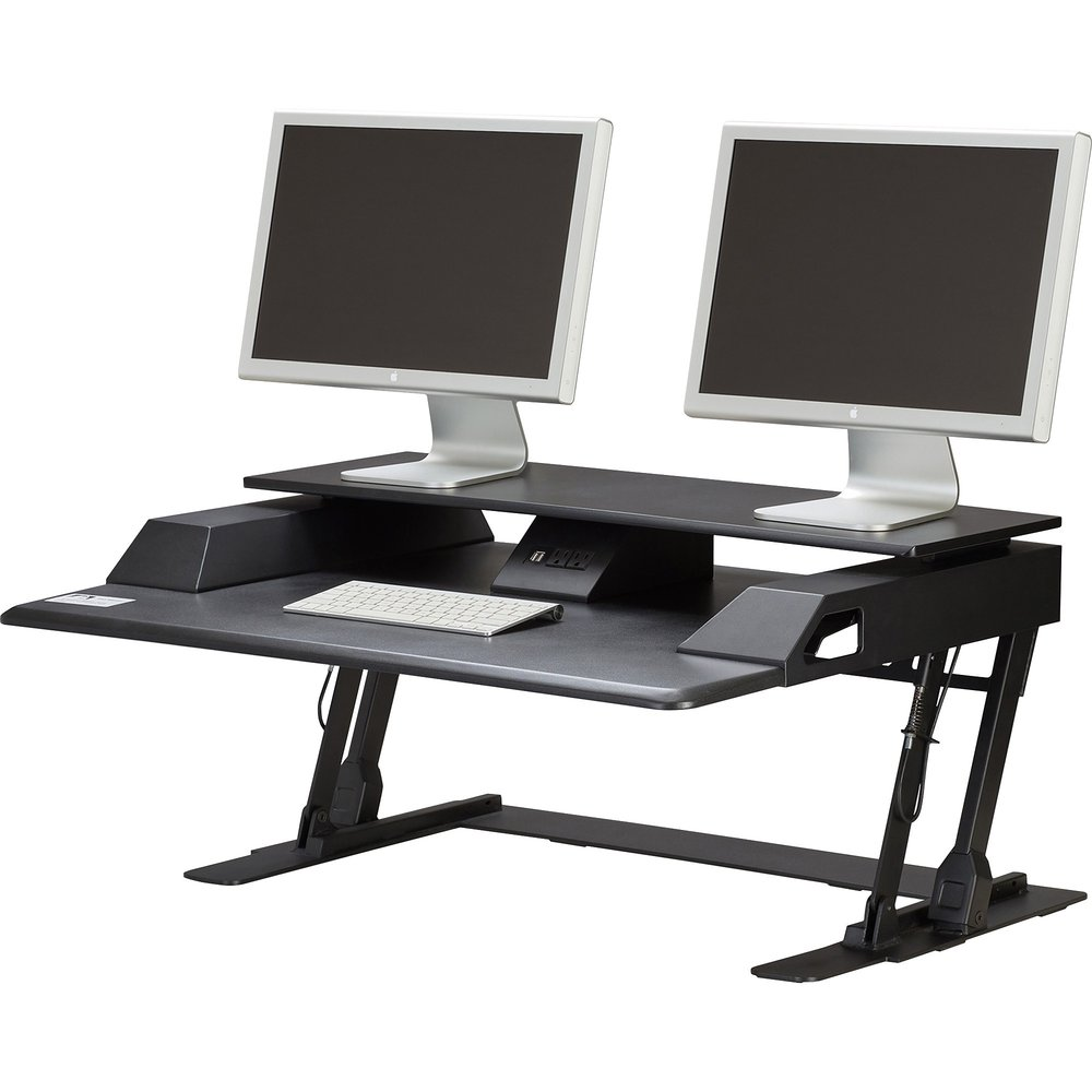 Safco Merge Monitor Riser Sit Stand Workstation 4 5