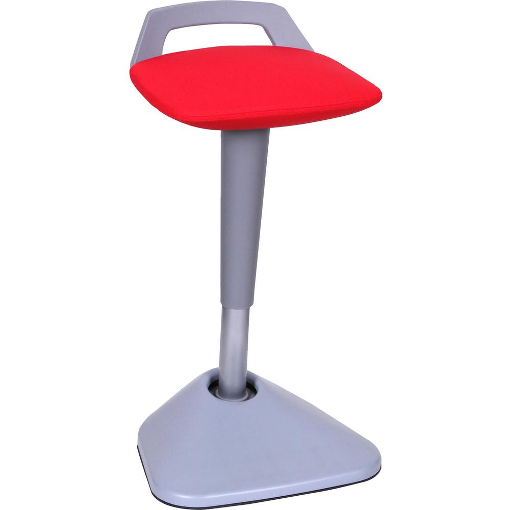 Lorell Pivot Chair Fabric Red Seat Square Base 16 1