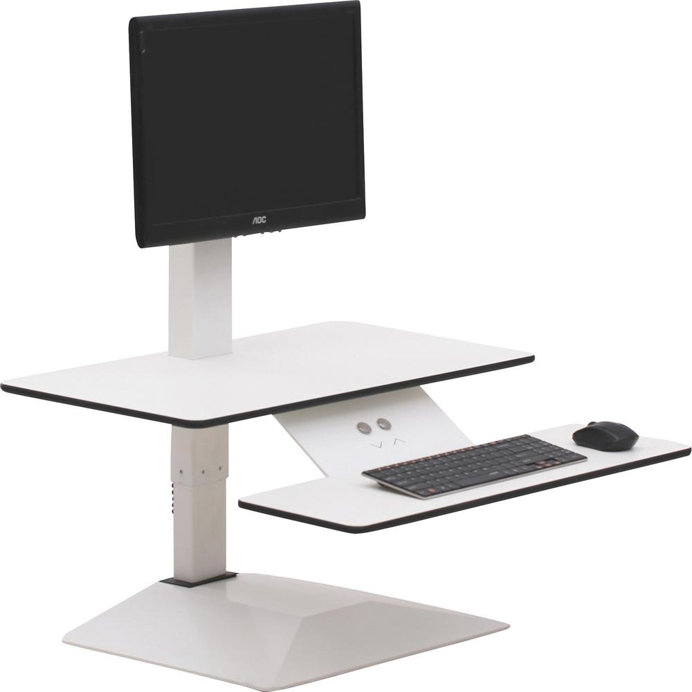 Lorell Sit To Stand Electric Desk Riser 21 6 Quot Height X