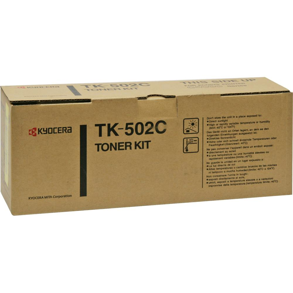 Kyocera TK-502C Original Toner Cartridge - Laser - 8000 Pages - Cyan - 1 Each. The main picture.