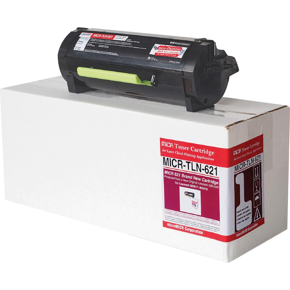 microMICR TLN-621 MICR Toner Cartridge - Alternative for Lexmark 53B1000 - Black - Laser - 20000 Pages - 1 Each. The main picture.