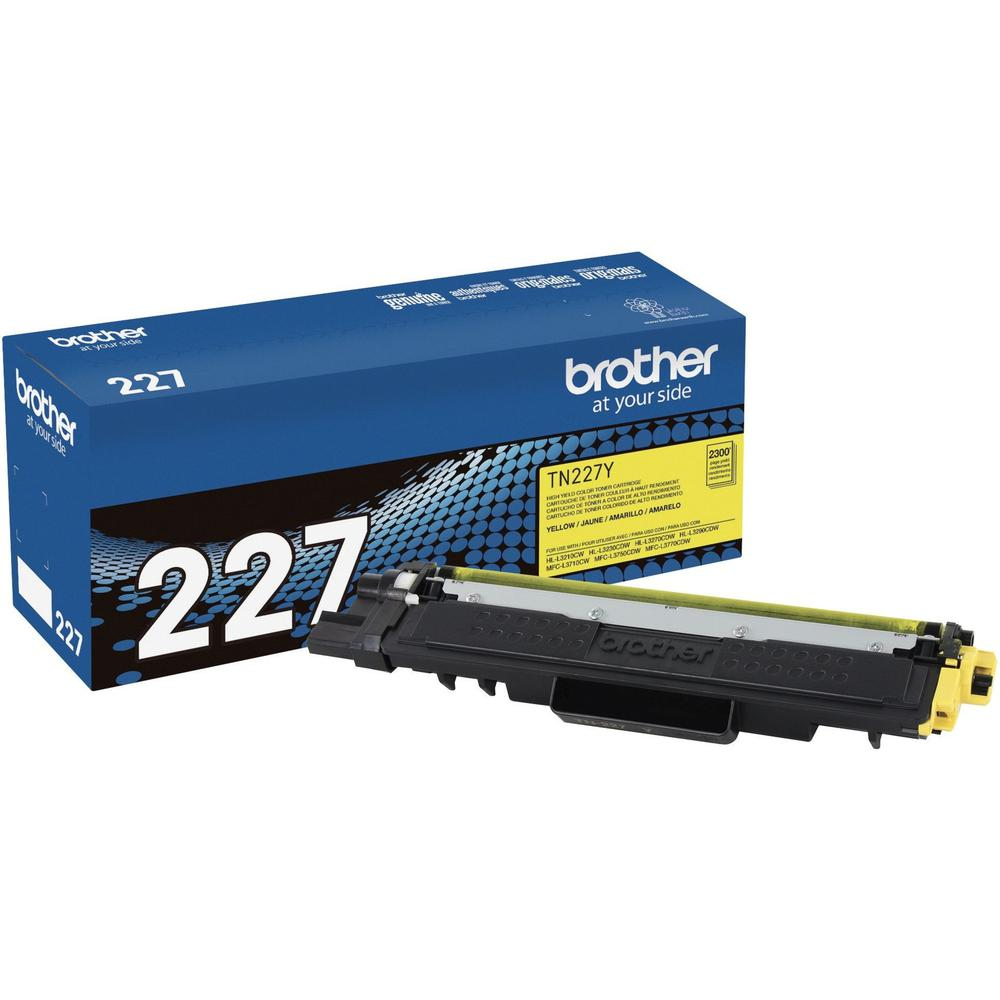 Brother Genuine TN-227Y High Yield Yellow Toner Cartridge - Laser - High Yield - 2300 Pages - 1 Each. Picture 1