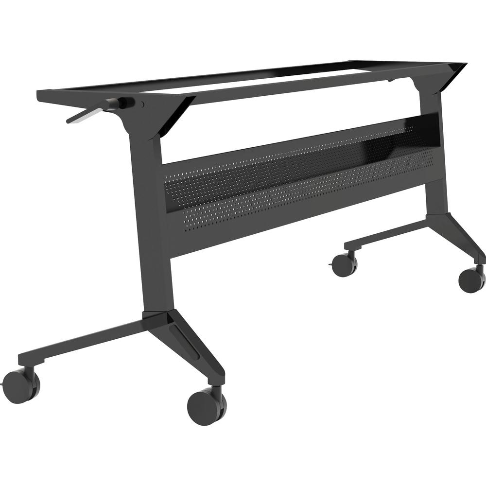 """Safco Flip-N-Go Black Training Table Base - Black Base - 28"""" Height - Assembly Required. Picture 1"""