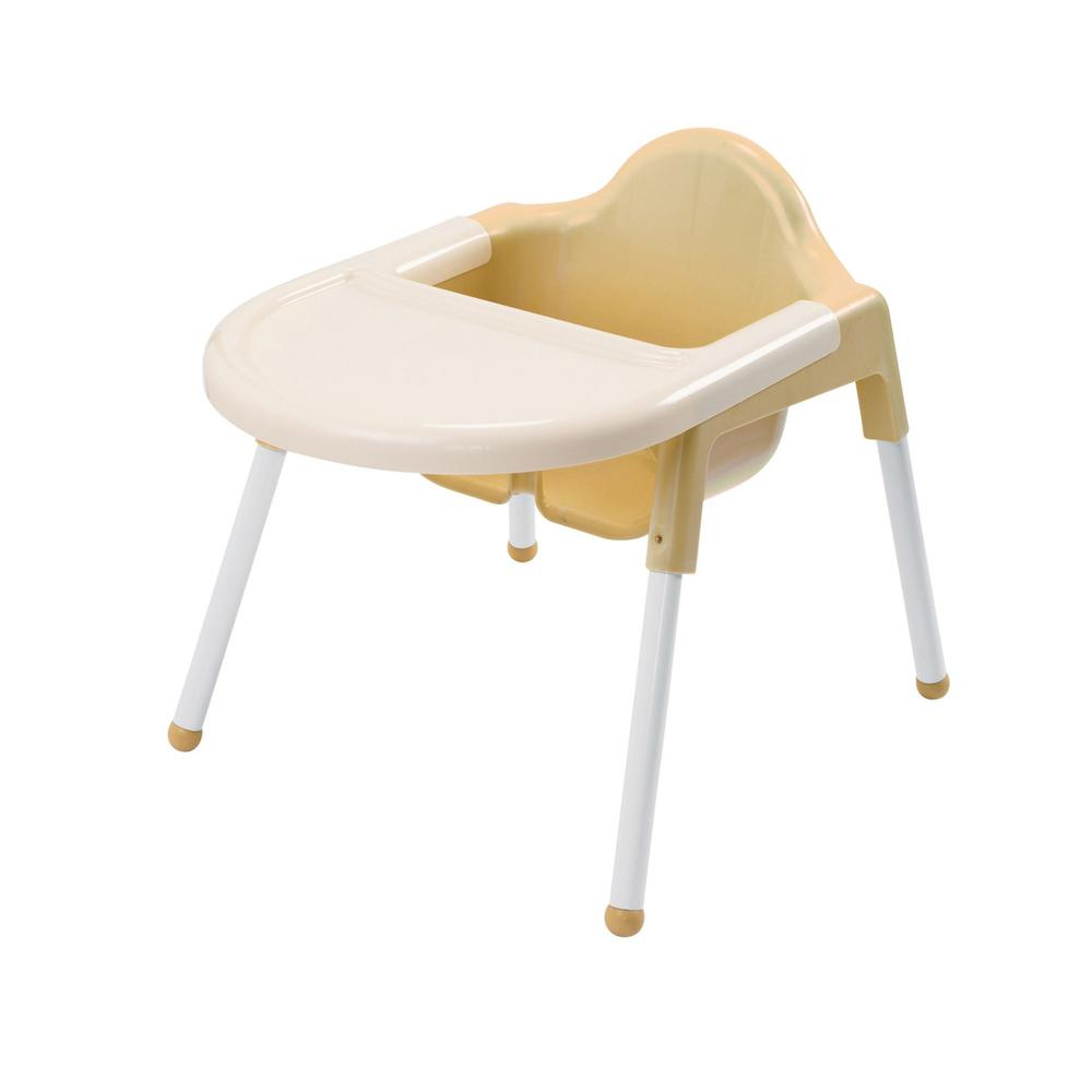 """Angeles Infant Feeding Chair - Four-legged Base - Off White - 7"""" Seat Depth - 22"""" Length x 16"""" Width - 19"""" Height - 1 Each. Picture 1"""