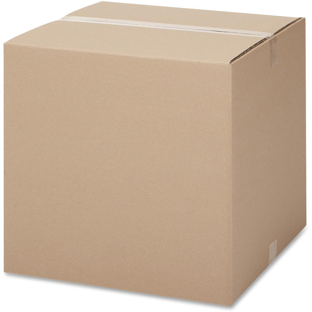 "International Paper Shipping Case - External Dimensions: 12"" Length x 18"" Width x 12"" Height - 200 lb - Flap Closure - Corrugated Board - Kraft - For Storage, Packages - 25 / Pack"
