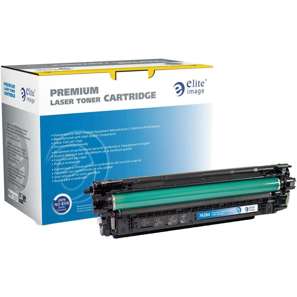 Elite Image Remanufactured Toner Cartridge - Alternative for HP 508A (CF361A) - Cyan - Laser - 5000 Pages - 1 Each. Picture 1