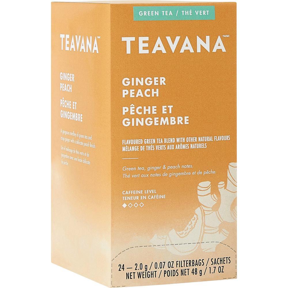 Teavana Ginger Peach Green Tea - Green Tea - Ginger Peach - 1.7 oz - 24 / Box. Picture 1