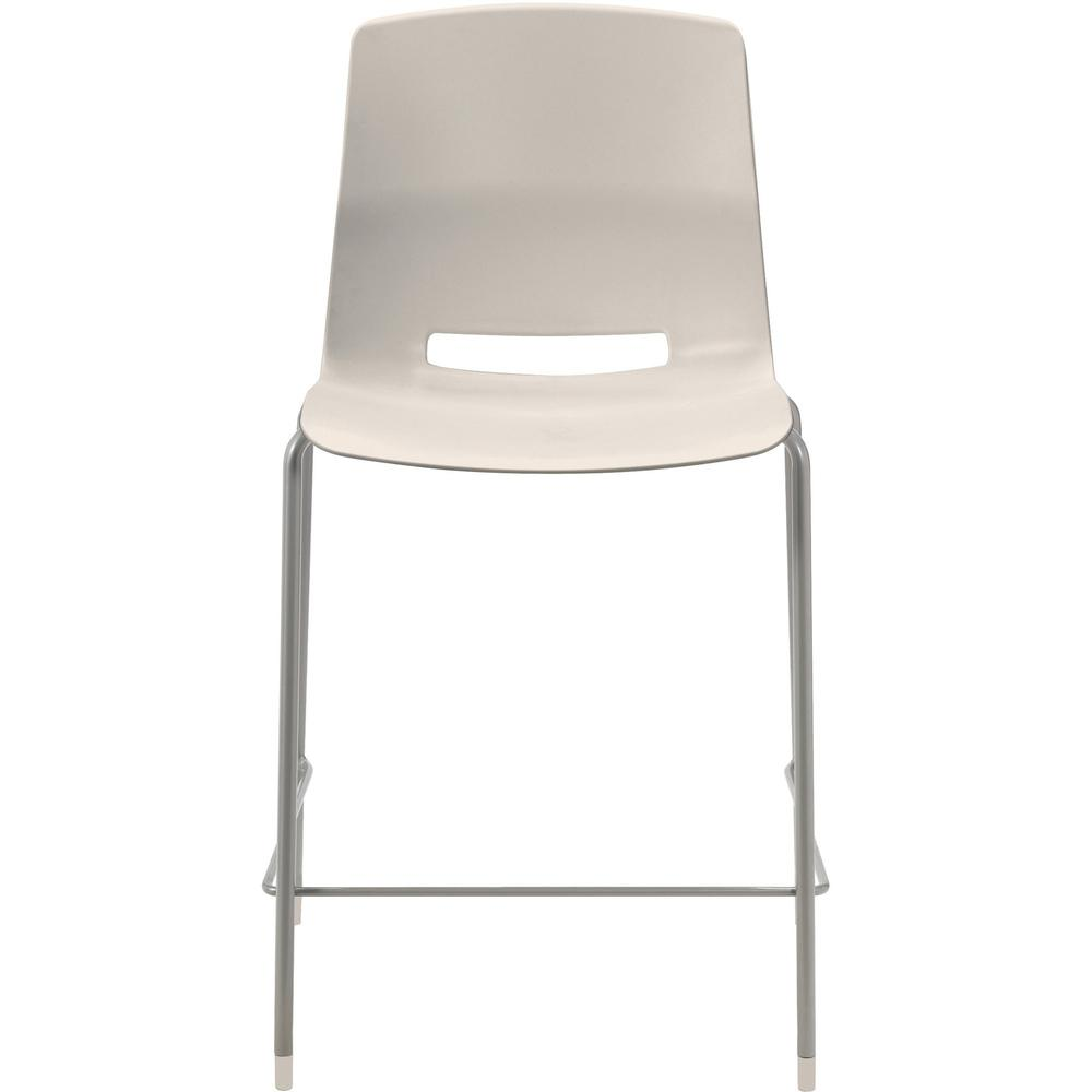 """KFI Swey Collection 25"""" Multipurpose Stool - Moonbeam Polypropylene Seat - Moonbeam Polypropylene Back - Silver Steel Frame - Four-legged Base - 18"""" Seat Width x 17"""" Seat Depth - 20.5"""" Width x 20.5"""" D. Picture 1"""