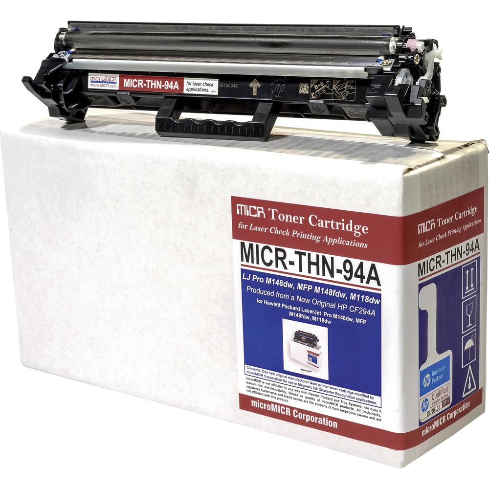 microMICR MICR Toner Cartridge - Alternative for HP CF294A - Black - Laser - 1200 Pages - 1 Each. Picture 1