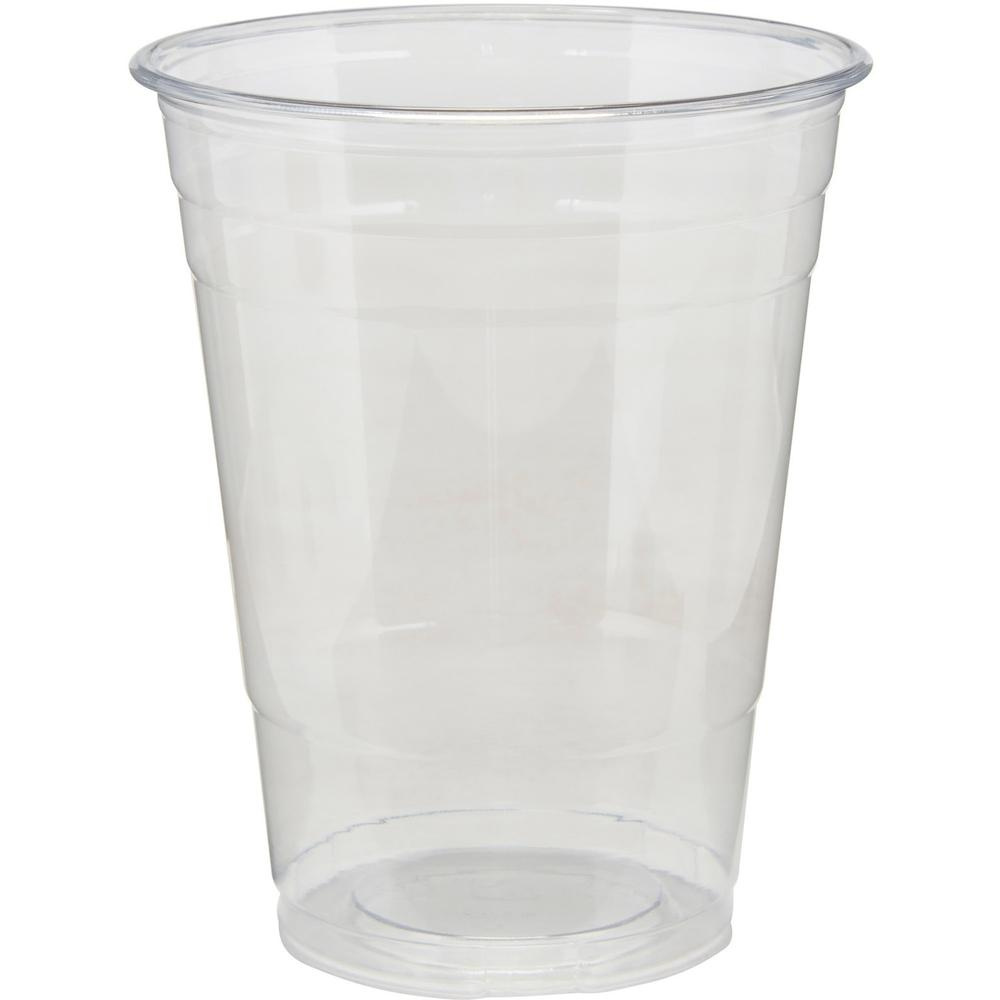 Dixie Cold Cups by GP Pro - 16 fl oz - 25 / Pack - Clear - PETE Plastic - Soda, Iced Coffee, Sample, Breakroom, Restaurant, Lobby, Coffee Shop. Picture 1