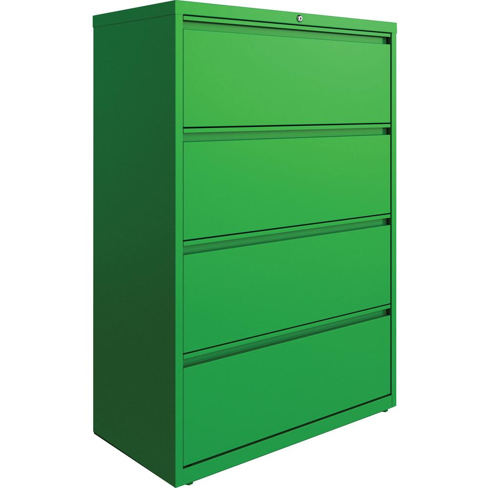 "Lorell 4-drawer Lateral File - 36"" x 18.8"" x 52.5"" - 4 x Drawer(s) for File - Letter, Legal, A4 - Lateral - Hanging Rail, Label Holder, Durable, Nonporous Surface, Removable Lock, Locking Bar, Pull-ou. Picture 1"