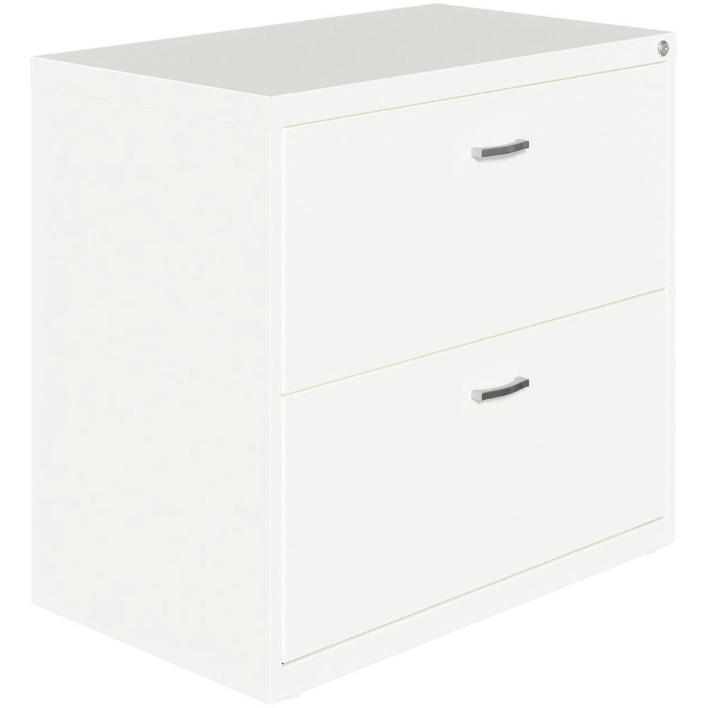 """Lorell SOHO Arc Pull Steel Lateral File - 30"""" x 17.6"""" x 27.8"""" - 2 x Drawer(s) for File - Letter - Lateral - Pull-out Drawer, Durable, Hanging Rail, Interlocking, Anti-tip Locking, Ball-bearing Suspens. Picture 1"""