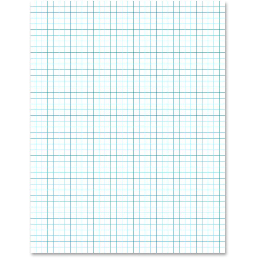 """Ampad 2 - Sided Quadrille Pads - Letter - 50 Sheets - Front Ruling Surface - 20 lb Basis Weight - 8 1/2"""" x 11"""" - White Paper - 50 / Pad. Picture 1"""