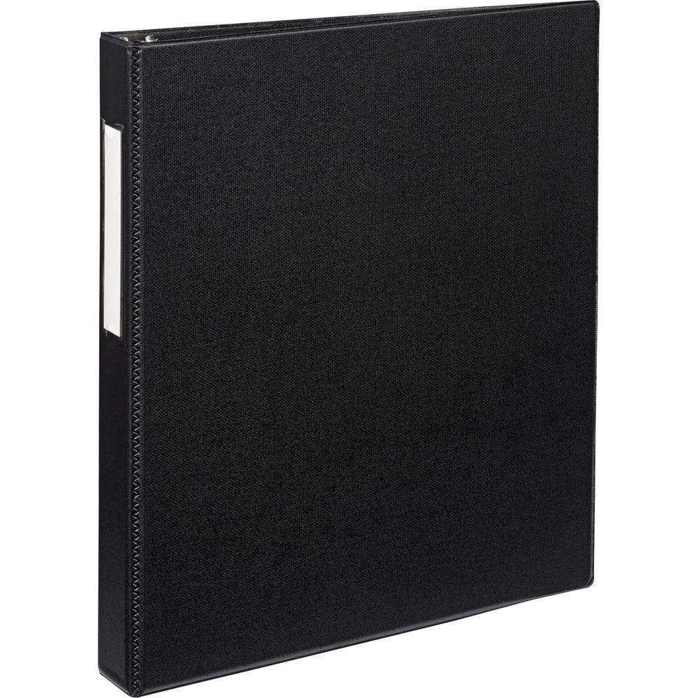 "Avery® Durable Binder - DuraHinge - 1"" Binder Capacity - Letter - 8 1/2"" x 11"" Sheet Size - 220 Sheet Capacity - 3 x Slant D-Ring Fastener(s) - 2 Internal Pocket(s) - Black - Recycled - Gap-free R. Picture 1"