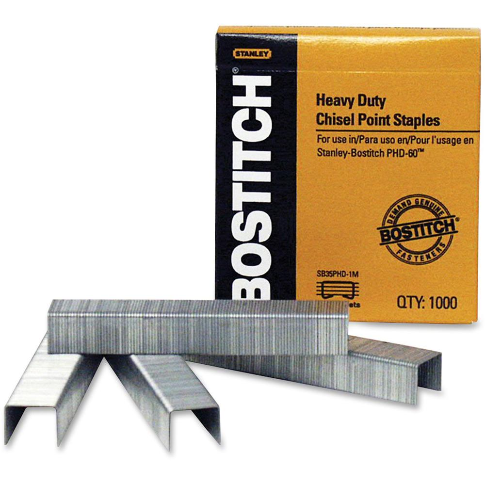 """Bostitch PHD-60 Stapler Heavy Duty Premium Staples - Heavy Duty - Holds 60 Sheet(s) - for Paper - Chisel Point - Silver - Steel - 3"""" Height x 0.5"""" Width2.7"""" Length - 1000 / Box. Picture 1"""