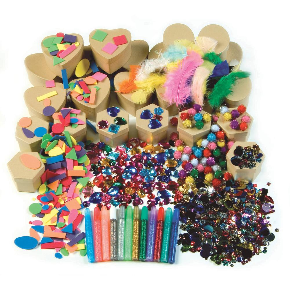 Creativity Street Papier Mache Box Activities - Classroom Activities - Recommended For - 1 Kit. Picture 1