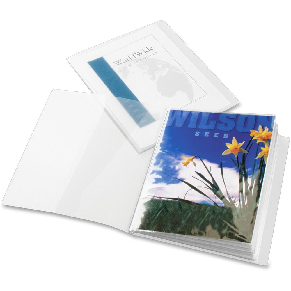 """Cardinal ClearThru Letter Presentation Book - 8 1/2"""" x 11"""" - 24 Sheet Capacity - 12 Internal Pocket(s) - Poly - Clear - 1 Each. Picture 1"""