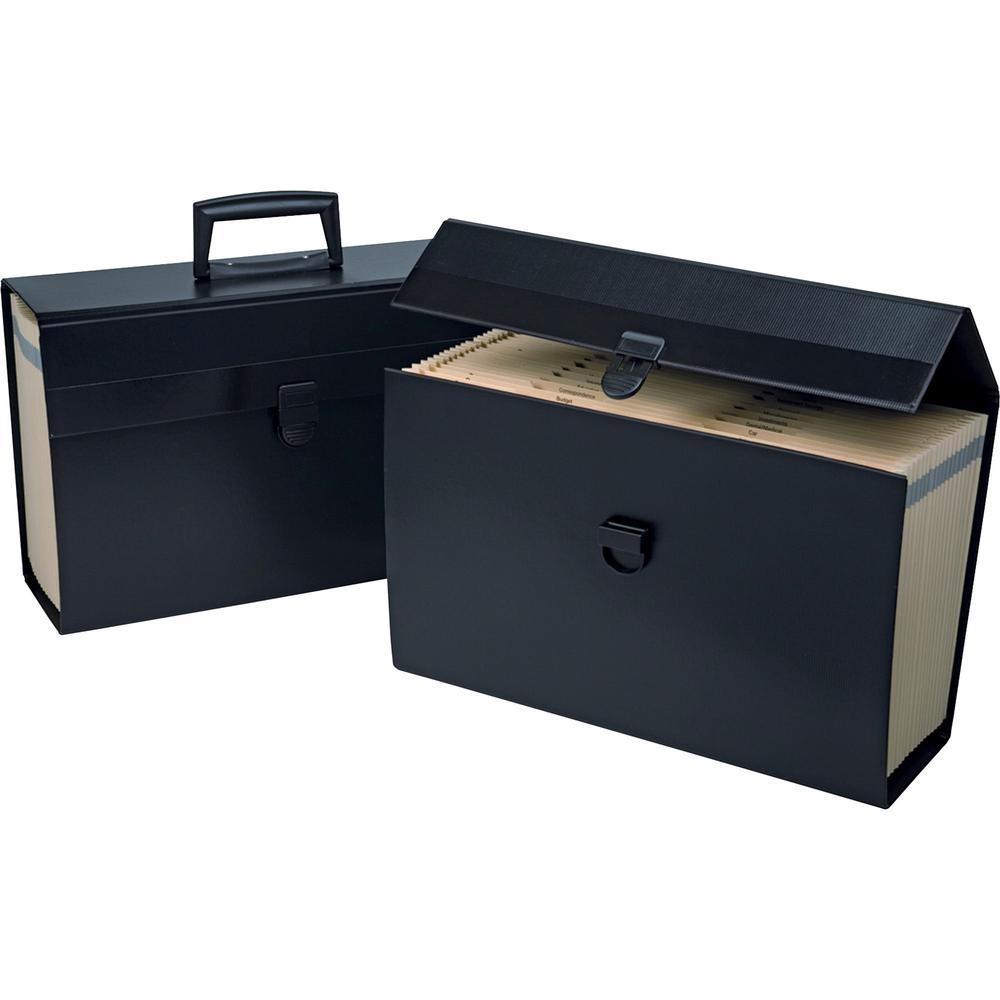 """Pendaflex A-Z Home Portafiles - Letter, Legal - 8 1/2"""" x 11"""" , 8 1/2"""" x 14"""" Sheet Size - 5 1/2"""" Expansion - 19 Pocket(s) - Paper - Black - 1.50 lb - 1 Each. Picture 1"""