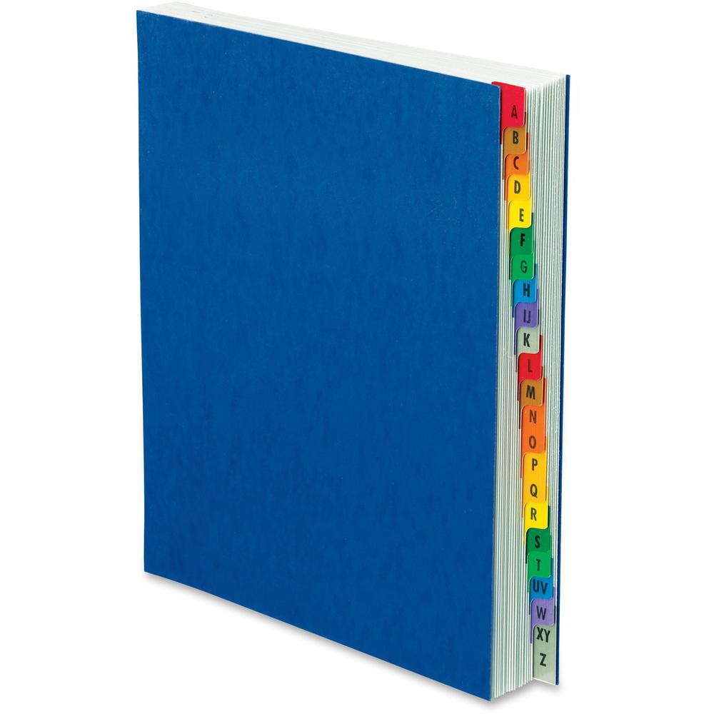 Pendaflex A-Z Oxford Desk File/Sorters - 20 Printed Tab(s) - Character - A-Z - Blue Divider - Multicolor Mylar Tab(s) - 1 Each. Picture 1