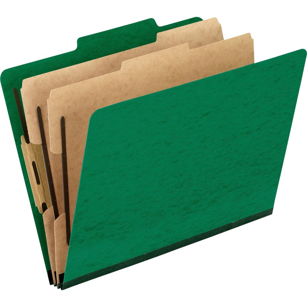 """Pendaflex 2/5 Tab Cut Letter Recycled Classification Folder - 8 1/2"""" x 11"""" - 2"""" Expansion - 4 Fastener(s) - 2"""" Fastener Capacity for Folder, 1"""" Fastener Capacity for Divider - 2 Divider(s) - Pressguar. Picture 1"""