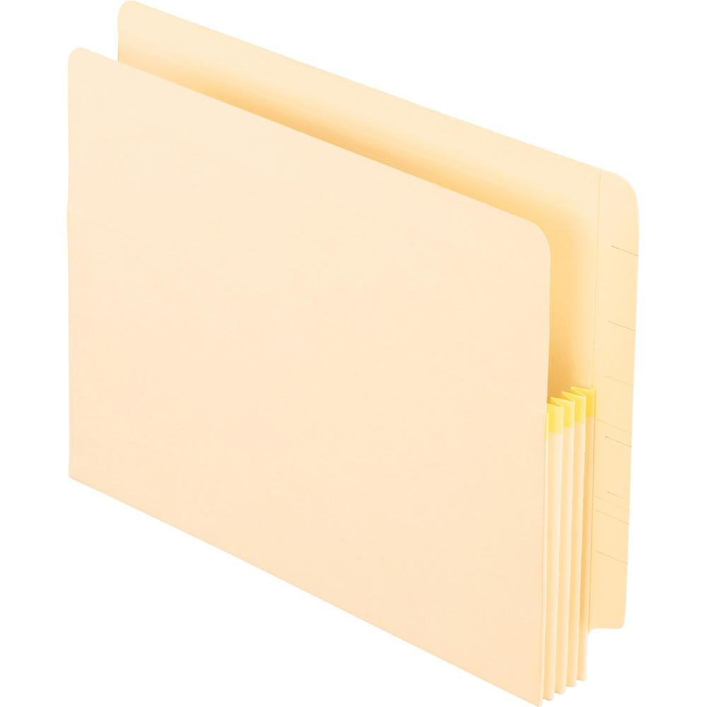"""Pendaflex Manila End Tab Expanding File Pockets - Letter - 8 1/2"""" x 11"""" Sheet Size - 3 1/2"""" Expansion - Manila - Recycled - 25 / Box. Picture 1"""
