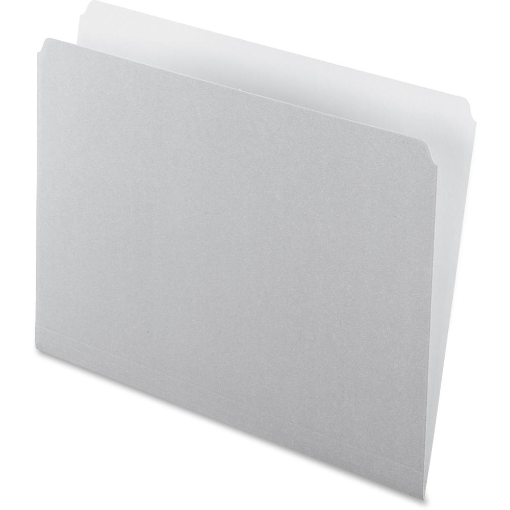"""Pendaflex Straight Cut Colored File Folders - Letter - 8 1/2"""" x 11"""" Sheet Size - 11 pt. Folder Thickness - Gray - Recycled - 100 / Box. Picture 1"""