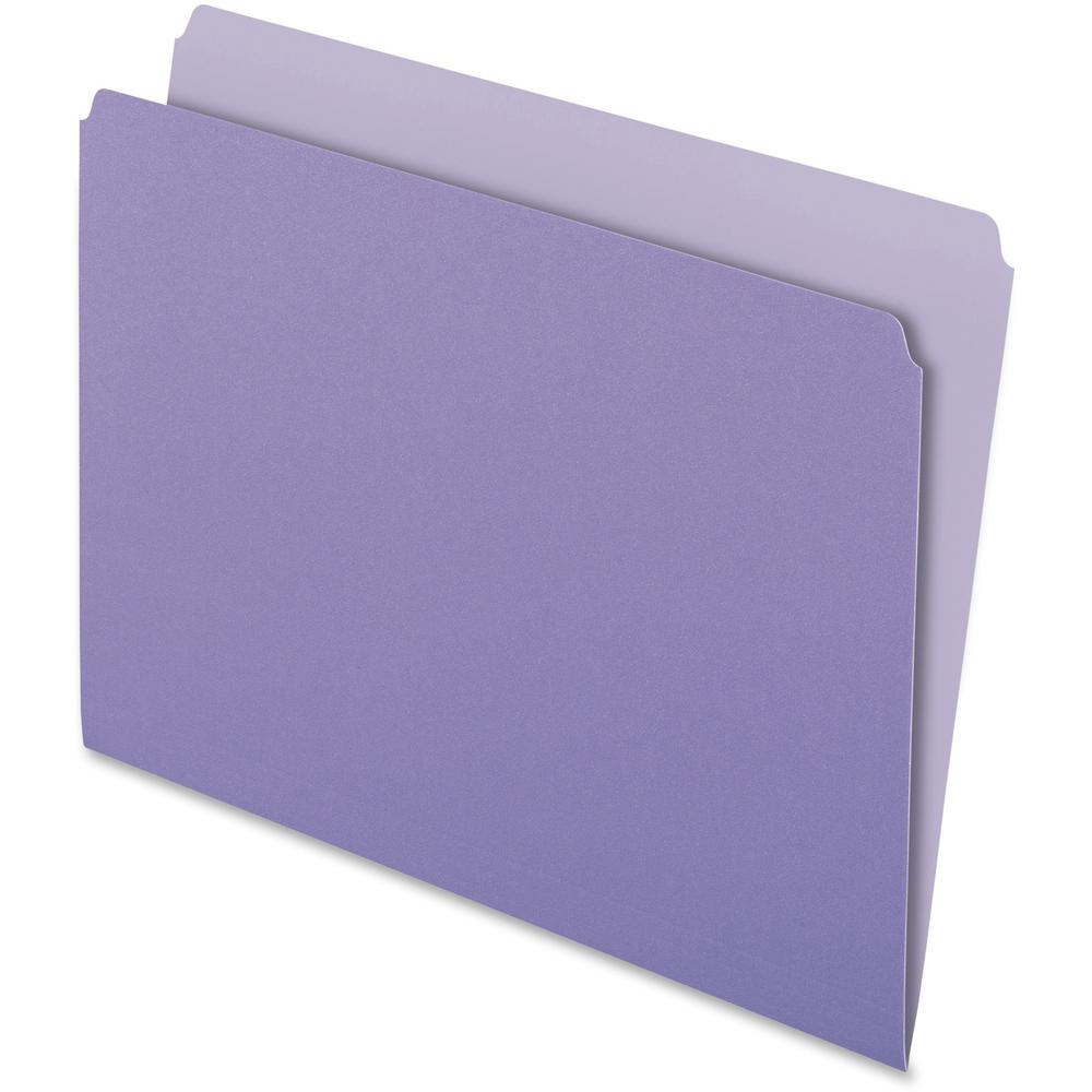 "Pendaflex Letter Recycled Top Tab File Folder - 8 1/2"" x 11"" - Lavender - 30% - 100 / Box. Picture 1"