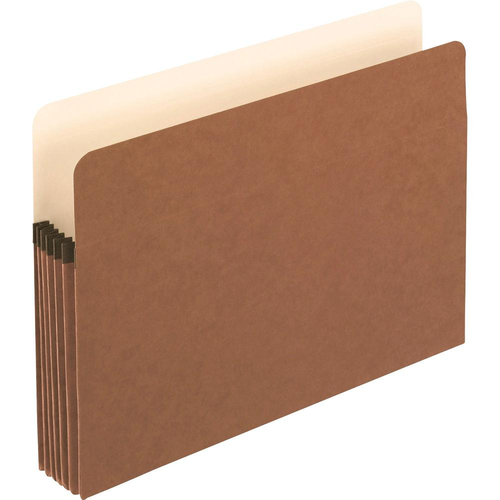"""Pendaflex Letter Recycled Expanding File - 8 1/2"""" x 11"""" - 5 1/4"""" Expansion - Manila, Red Fiber - 30% - 10 / Box. Picture 1"""