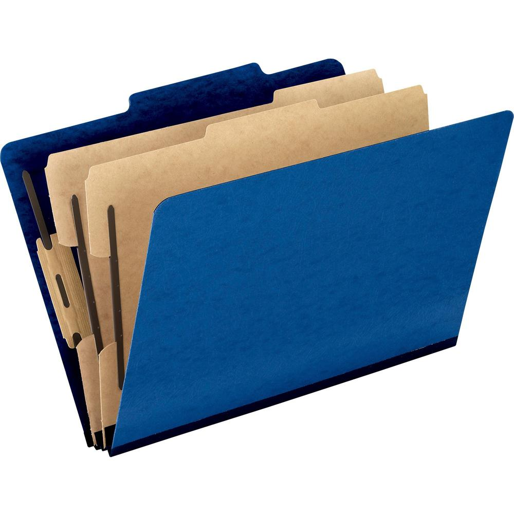 """Pendaflex 2/5 Tab Cut Legal Recycled Classification Folder - 8 1/2"""" x 14"""" - 2"""" Expansion - 4 Fastener(s) - 2"""" Fastener Capacity for Folder, 1"""" Fastener Capacity for Divider - 2 Divider(s) - Pressguard. Picture 1"""