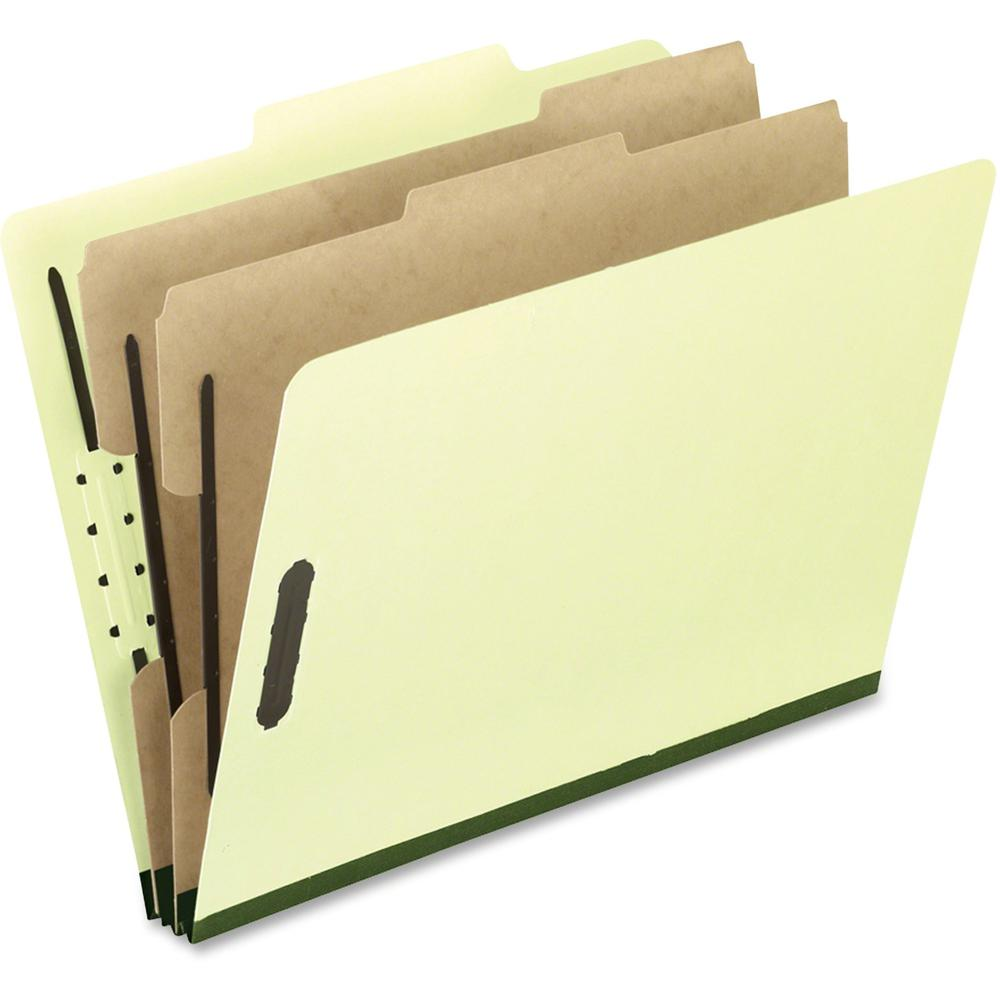 "Pendaflex 2/5 Tab Cut Legal Recycled Classification Folder - 8 1/2"" x 14"" - 2"" Expansion - 4 Fastener(s) - 2"" Fastener Capacity for Folder, 1"" Fastener Capacity for Divider - 2 Divider(s) - Pressguard. Picture 1"