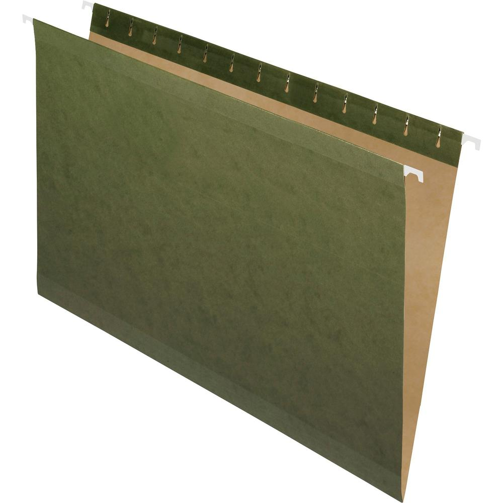 """Pendaflex Legal Recycled Hanging Folder - 8 1/2"""" x 14"""" - Standard Green - 10% - 25 / Box. Picture 1"""